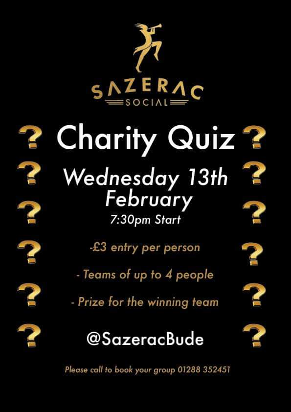 Charity Quiz at Sazerac Social - Friends of Bude Sea Pool in